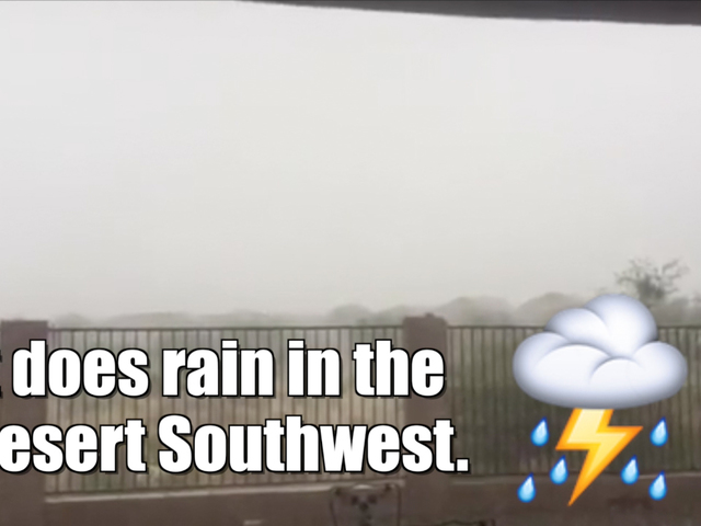 Monsoon season is beginning