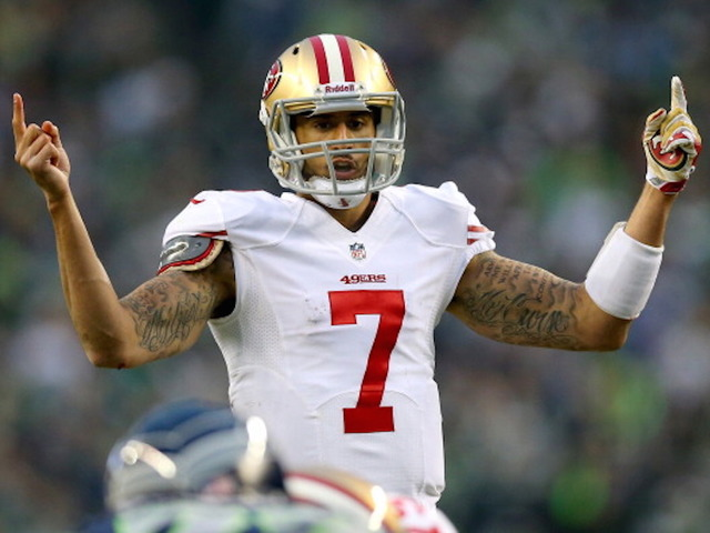 Kaepernick will sit through anthem until there's change