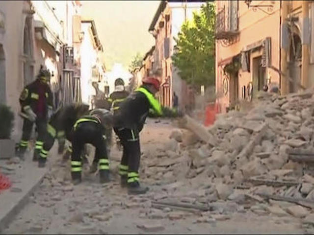 Magnitude Earthquake Rocks Central Italy