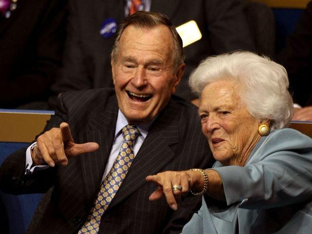 George HW Bush hospitalized, treated for pneumonia