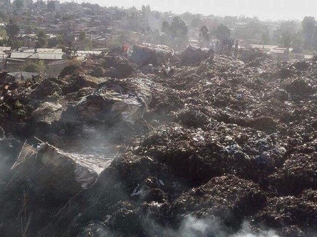 Ethiopia trash dump landslide kills 50