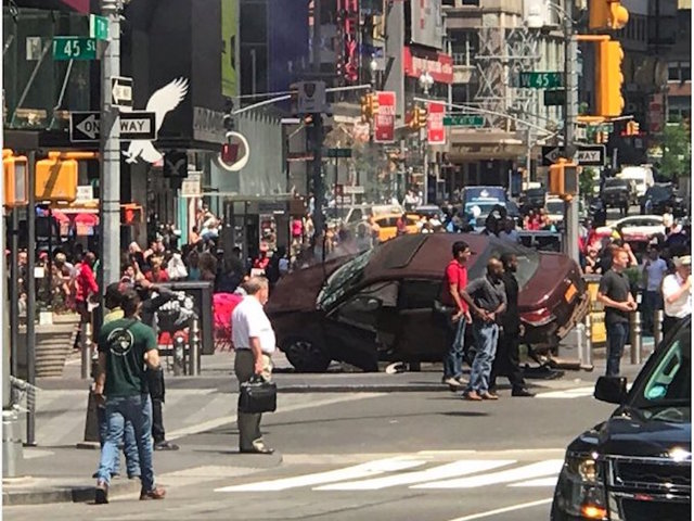 One killed, several injured as car hits pedestrians in Times Square