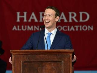 Zuckerberg gives Harvard commencement address