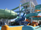Boy falls over a water slide in California