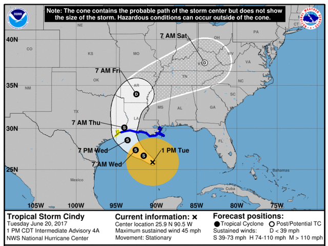 Tropical storm watch issued for upper Texas Coast