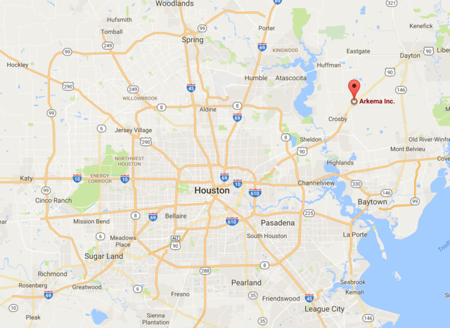 Families being evacuated near Crosby chemical plant