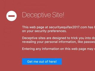 Equifax sent some users to a fake website