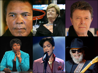 PHOTOS: The stars and figures we lost in 2016