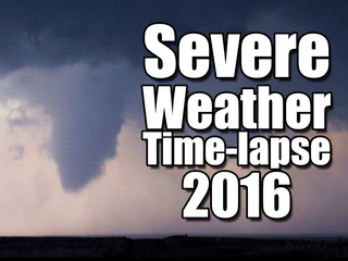 Time-lapse video shows 2016's severe weather