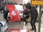 Protesters smash windows at Trump inauguration