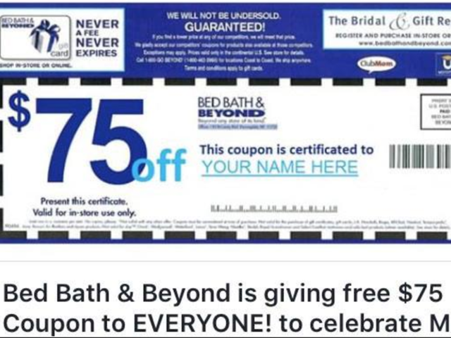 Bed, Bath and Beyond calls coupon a \'fake\' - abcactionnews.com WFTS-TV