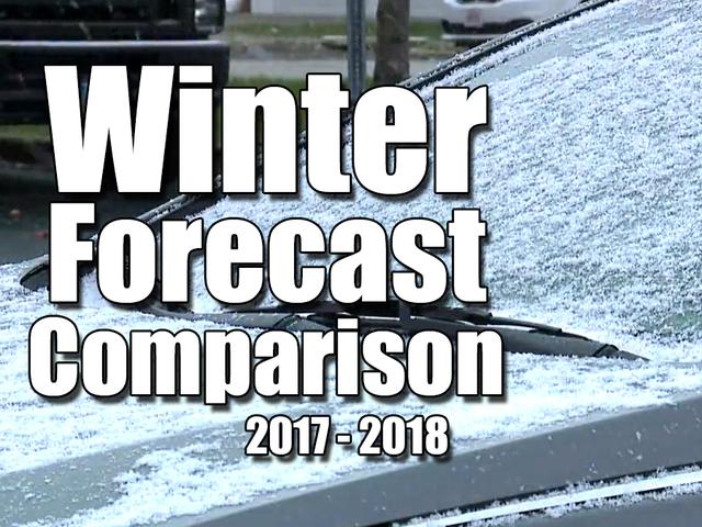 Winter Forecast Comparison- 2017-2018