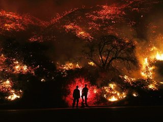 Late season California fires might become common