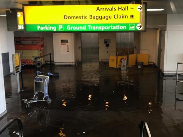 JFK Airport water pipe break weather-related