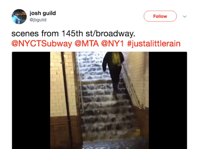 People Are Sharing Crazy Videos of New York City Subway Stations Flooding