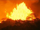 Man stuck by flaming 'lava bomb' in Hawaii