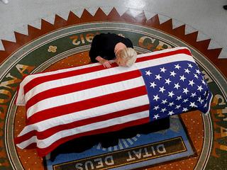 McCain lies in state at Arizona Capitol