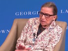 Ginsburg returns to Supreme Court after fall